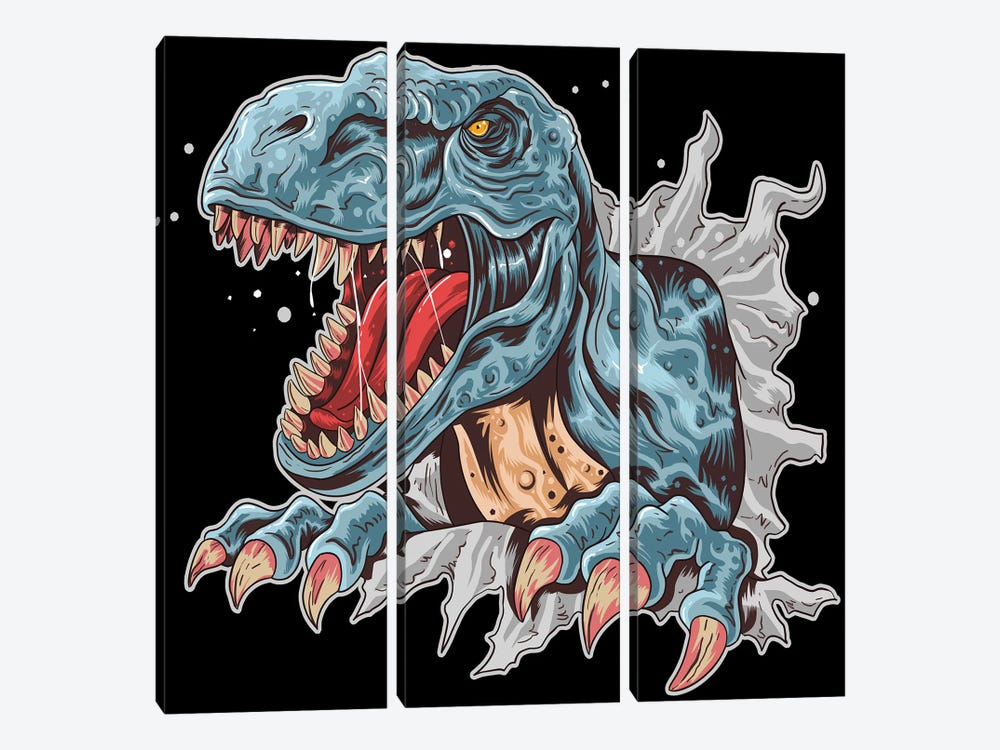 Dinosaur by Art Mirano 3-piece Canvas Print