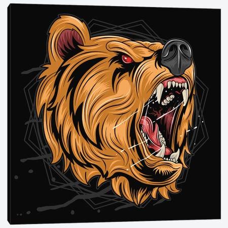 Black bear Canvas Print #ARM518} by Art Mirano Art Print