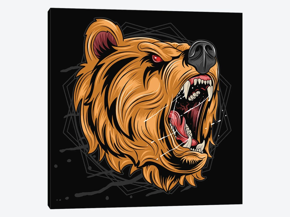 Black bear by Art Mirano 1-piece Canvas Print