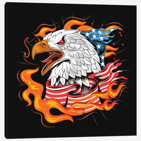 Eagle USA Canvas Print #ARM519} by Art Mirano Canvas Print