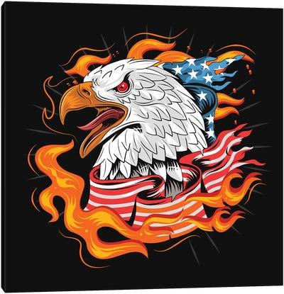 Eagle USA Canvas Art Print