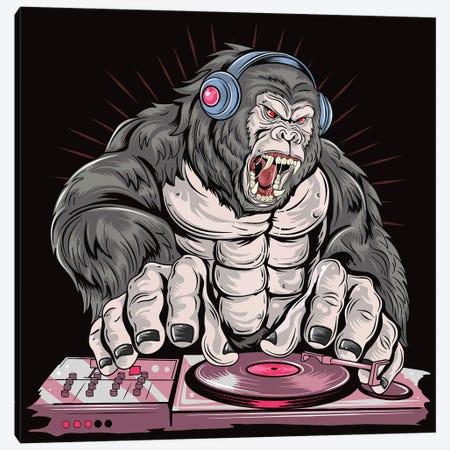 Gorilla DJ Canvas Print #ARM520} by Art Mirano Canvas Art