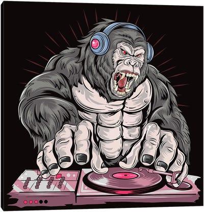 Gorilla DJ Canvas Art Print
