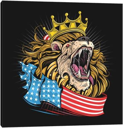 Lion USA Canvas Art Print