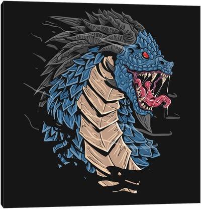 Dragon Head Canvas Art Print