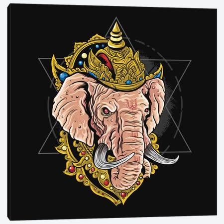 Ganesha Hindu God Canvas Print #ARM524} by Art Mirano Canvas Print