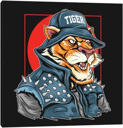 Tiger Rocker Canvas Art Print