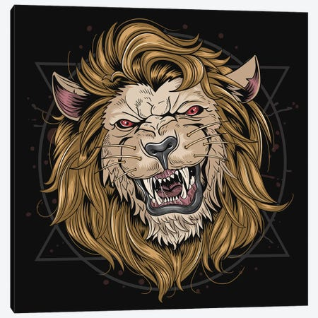 Lion Leo Canvas Print #ARM528} by Art Mirano Canvas Wall Art
