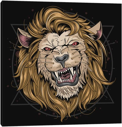 Lion Leo Canvas Art Print