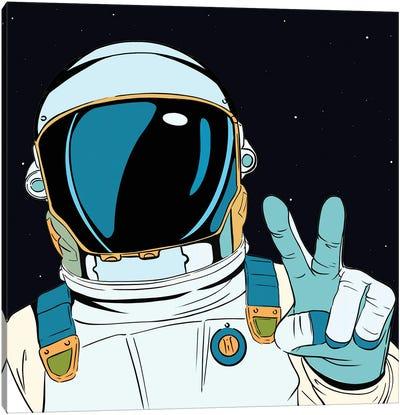 Astronaut Pop Canvas Art Print