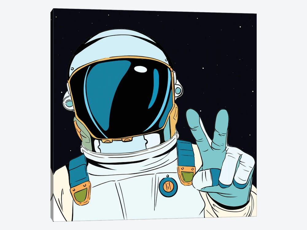 Astronaut Pop by Art Mirano 1-piece Canvas Art Print