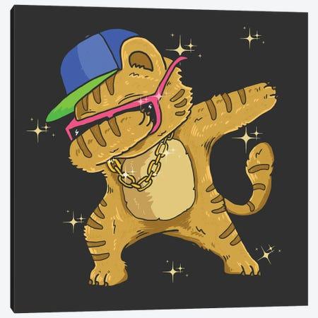 Hip Hop Cat Canvas Print #ARM531} by Art Mirano Canvas Art Print