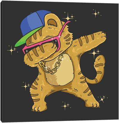 Hip Hop Cat Canvas Art Print