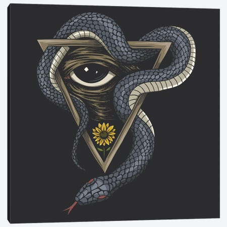 Snake On A Triangle Canvas Print #ARM532} by Art Mirano Canvas Art Print