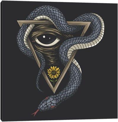 Snake On A Triangle Canvas Art Print