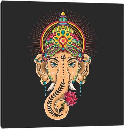 God Shiva Tibetan Motive Canvas Art Print