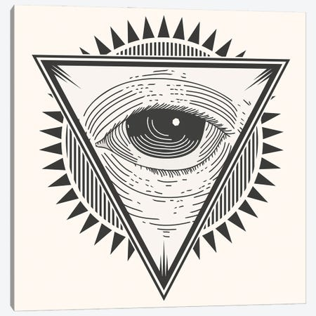 Eye In A Triangle Canvas Print #ARM535} by Art Mirano Canvas Wall Art