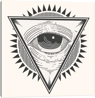 Eye In A Triangle Canvas Art Print