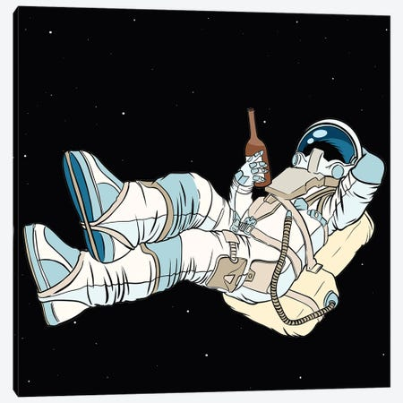 The Astronaut Is Resting Canvas Print #ARM536} by Art Mirano Canvas Wall Art