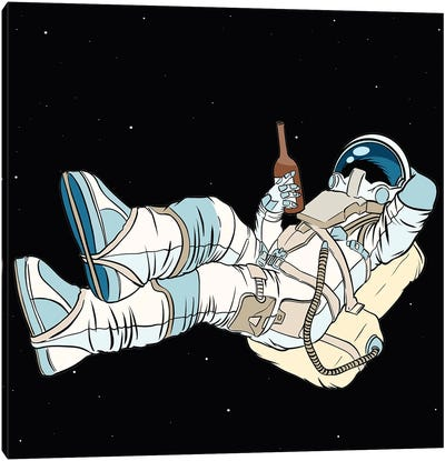The Astronaut Is Resting Canvas Art Print