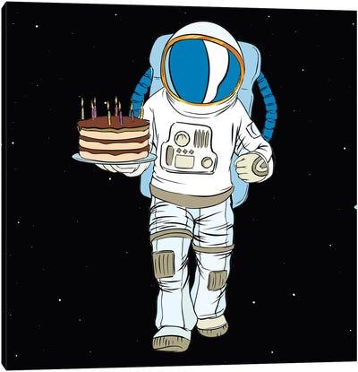 Cosmonaut And Cake Canvas Art Print
