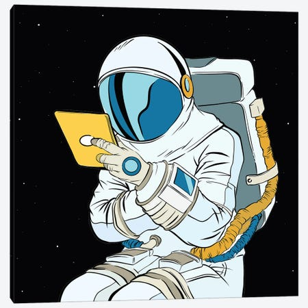 Astronaut And Tablet Canvas Print #ARM540} by Art Mirano Canvas Art