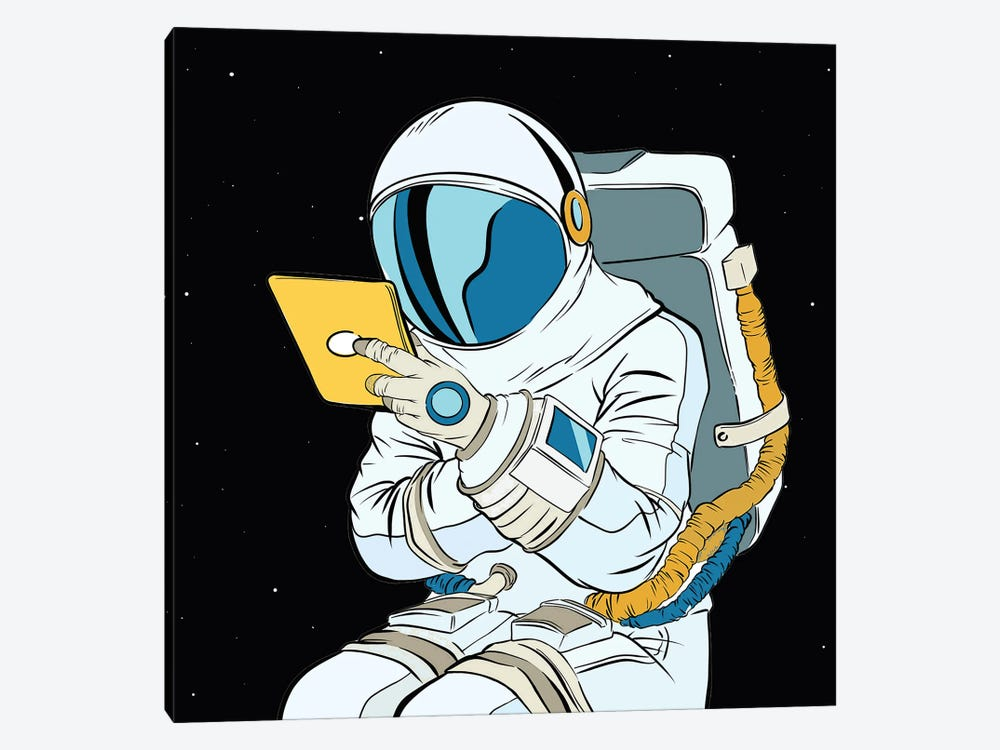 Astronaut And Tablet by Art Mirano 1-piece Canvas Artwork