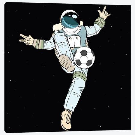 Astronaut And Football Canvas Print #ARM541} by Art Mirano Canvas Wall Art