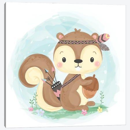 Squirrel For Children's Room Canvas Print #ARM543} by Art Mirano Canvas Artwork