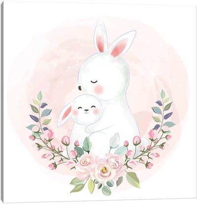Hares For The Nursery Canvas Art Print