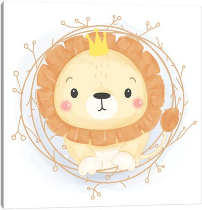 Leo For Children's Room Canvas Art Print