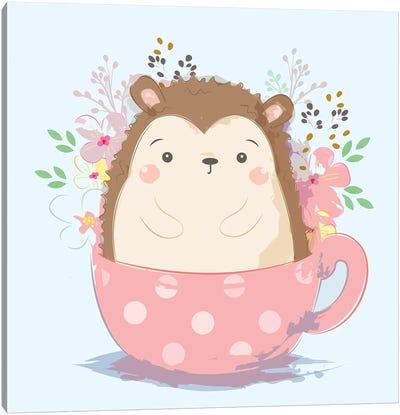 Hedgehog For Children's Room Canvas Art Print