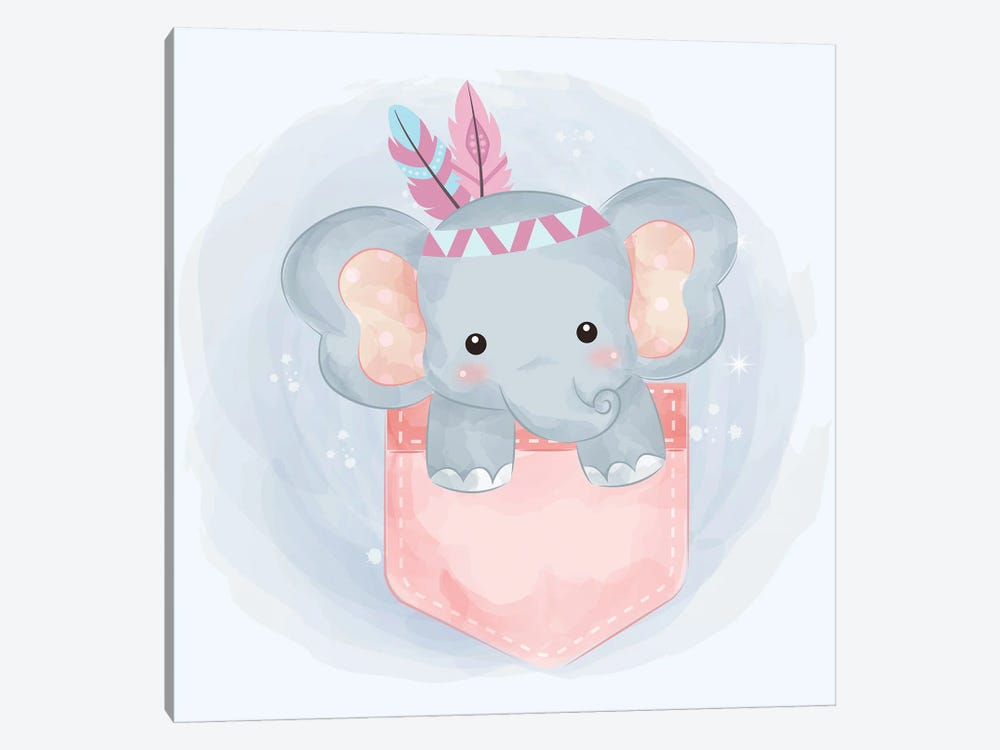 Elephant For Children's Room by Art Mirano 1-piece Canvas Art