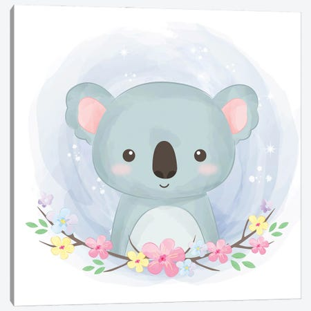 Koala For Children's Room Canvas Print #ARM552} by Art Mirano Canvas Art Print