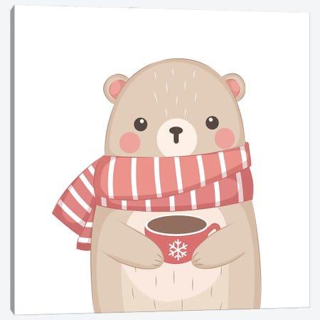 Cute Bear Illustration Canvas Print #ARM554} by Art Mirano Canvas Art