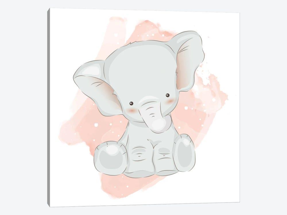 Baby Elephant Cute by Art Mirano 1-piece Canvas Art