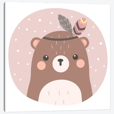 Baby Bear Illustration Canvas Print #ARM562} by Art Mirano Canvas Artwork
