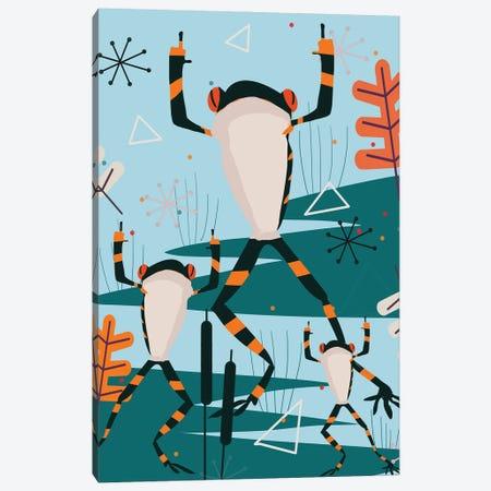 Dancing Frog Canvas Print #ARM563} by Art Mirano Canvas Art
