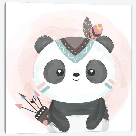 Watercolor Panda Baby Canvas Print #ARM564} by Art Mirano Canvas Art Print