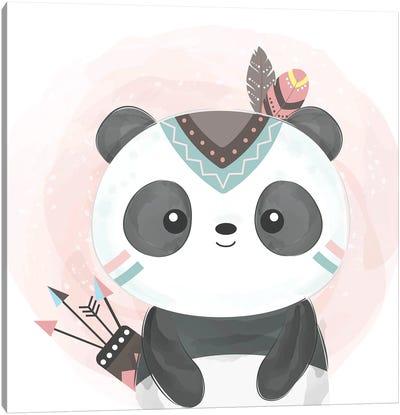Watercolor Panda Baby Canvas Art Print