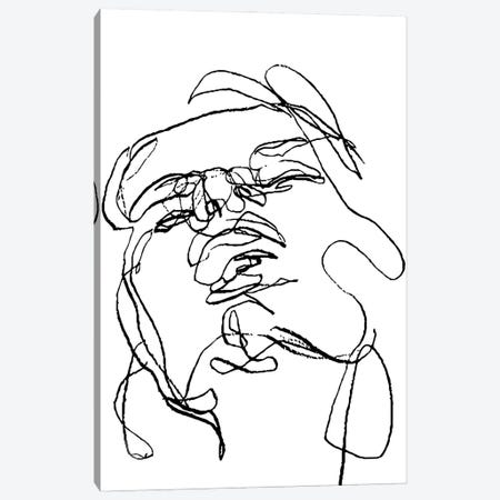 Black White Face Woman Canvas Print #ARM574} by Art Mirano Canvas Wall Art