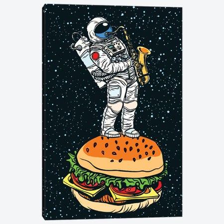 Astronaut On The Hamburger Canvas Print #ARM589} by Art Mirano Canvas Artwork