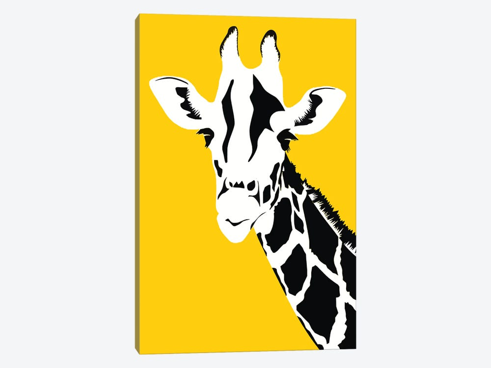 Giraffe On Yellow by Art Mirano 1-piece Canvas Art Print