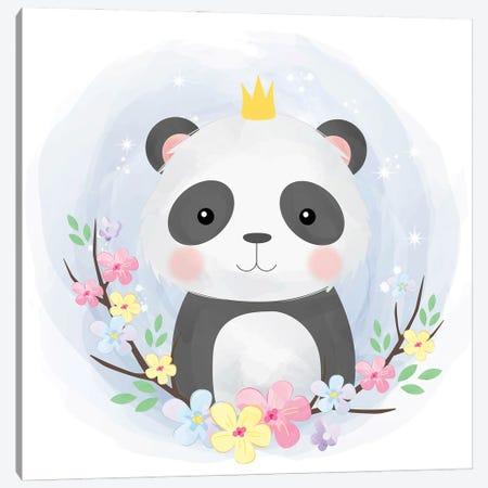 Cute Baby Panda Canvas Print #ARM592} by Art Mirano Canvas Art Print
