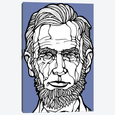 Abraham Lincoln Illustration Canvas Print #ARM604} by Art Mirano Canvas Wall Art