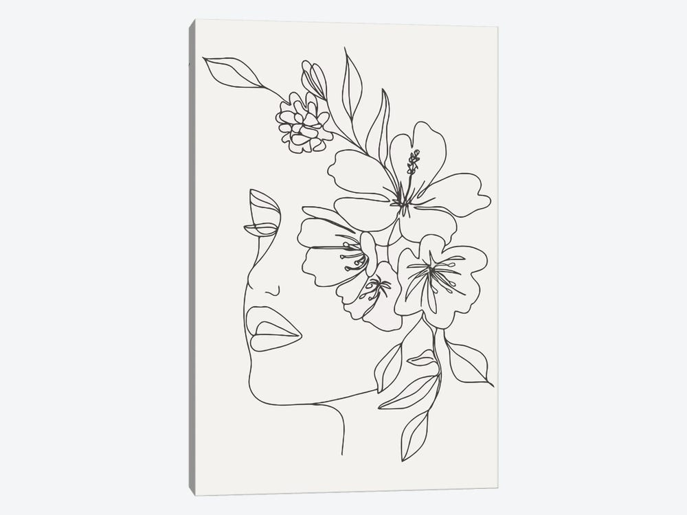 Woman With Flowers by Art Mirano 1-piece Art Print