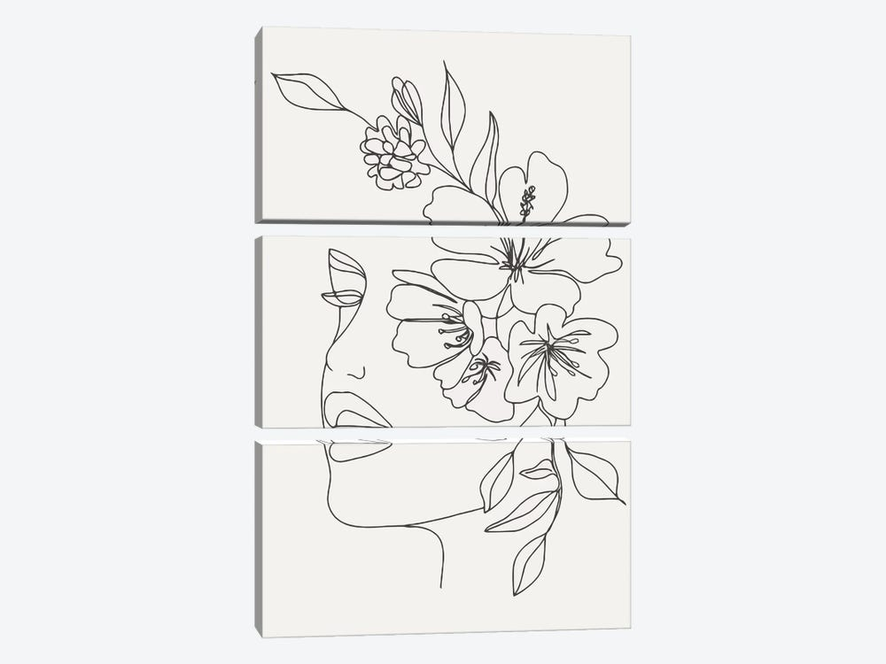 Woman With Flowers by Art Mirano 3-piece Art Print