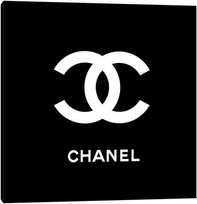 Chanel Black Canvas Art Print