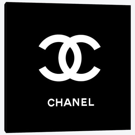 Chanel Black Canvas Print #ARM60} by Art Mirano Canvas Artwork