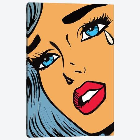 Sandra Blue Hair Illustration Canvas Print #ARM618} by Art Mirano Canvas Art